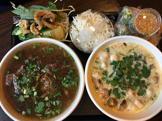 Tom Kha and Boat Noodle Soup at Pad Ga Pow