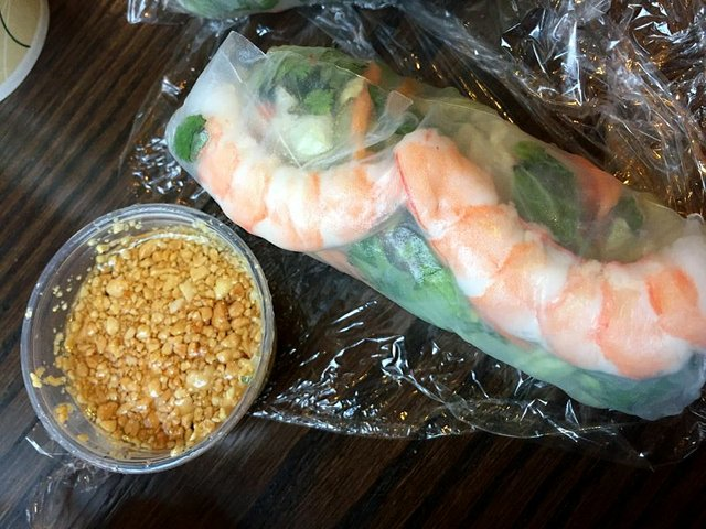 Shrimp Spring Roll at Pad Ga Pow