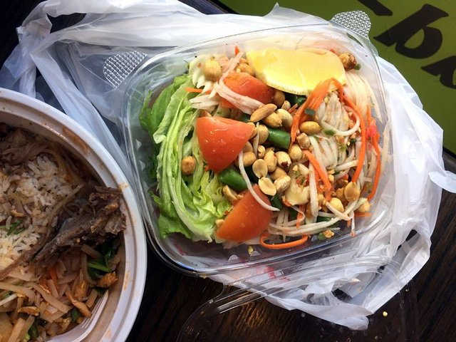 Papaya Salad at Pad Ga Pow