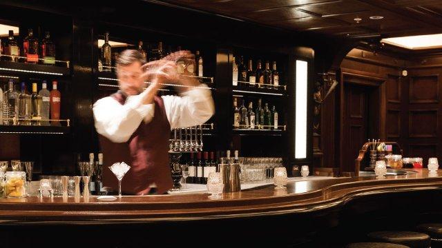 The bar at the Lexington