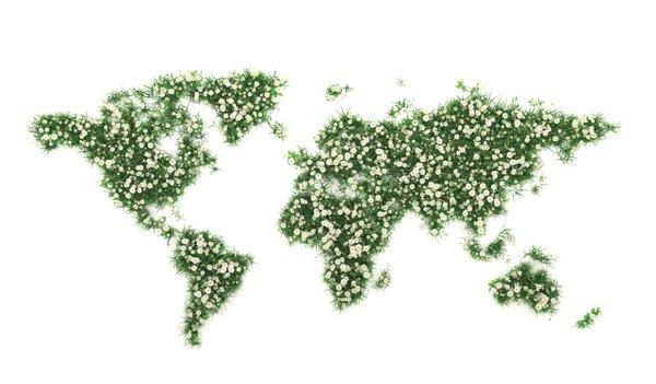 Global garden map
