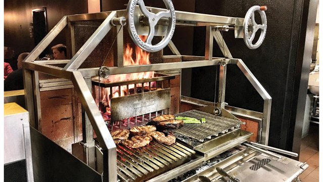 The wood-burning grill at Bonde Bistro