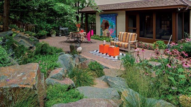 Scenic back yard