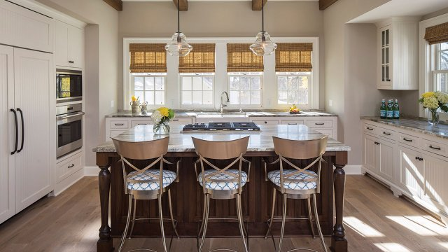 Coastal Kitchen and Dining Room in Minneapolis
