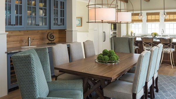Coastal Kitchen and Dining Room table