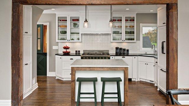 True Farmhouse Kitchen in Watertown
