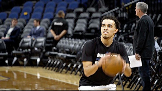 Timberwolves player Tyus Jones