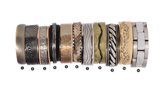 Textured Men's Wedding Rings