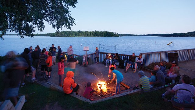 Ruttger's Bay Lake Lodge Fire Pit