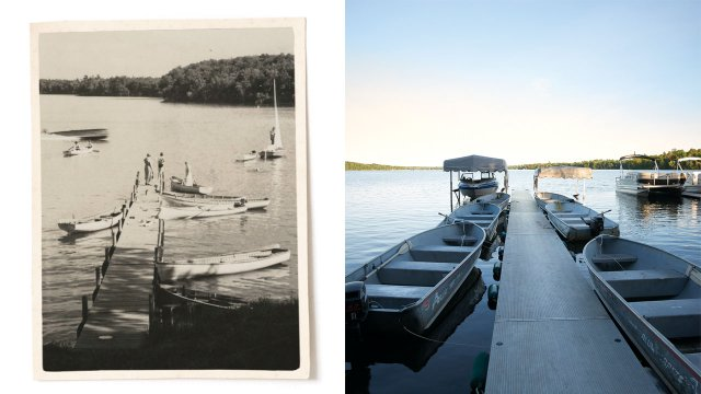 Bay Lake in 1920s and Today