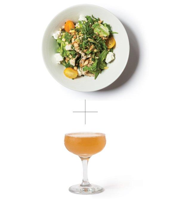 Porch-Light-Salad-and-Gimlet-at-Bottle-Rocket