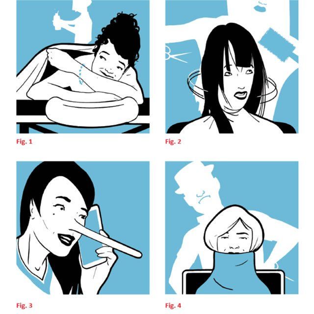 Illustrations of salon and spa experiences