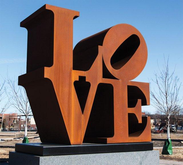 LOVE sculpture at the Walker