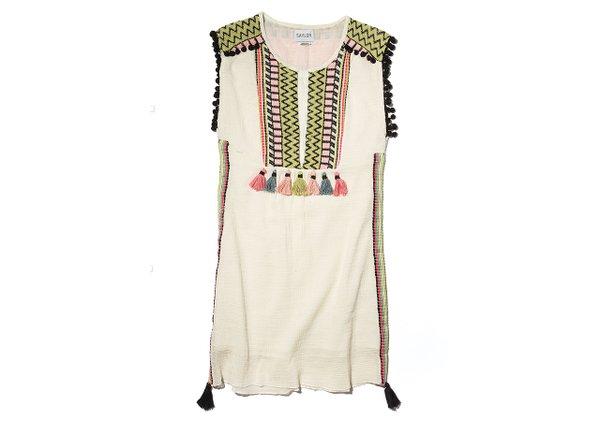 Cotton tassel dress