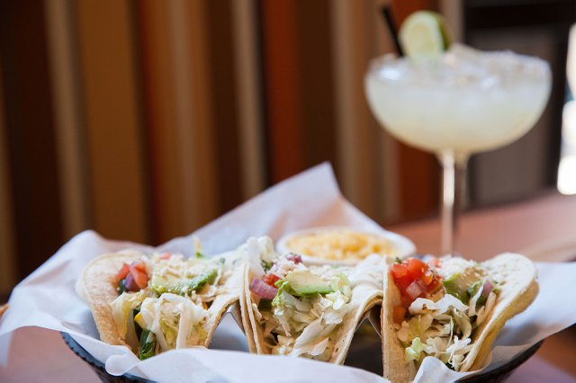 Tacos and margarita at Lagos Tacos