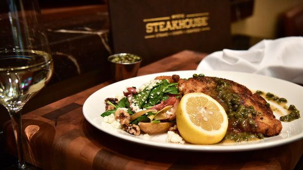Chicken Piccata at Mystic Steakhouse