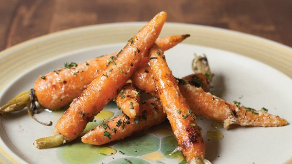 Carrots in almond dressing at Bar Brigade