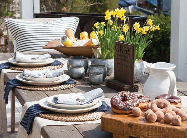 Outdoor table at Gray Home & Lifestyle