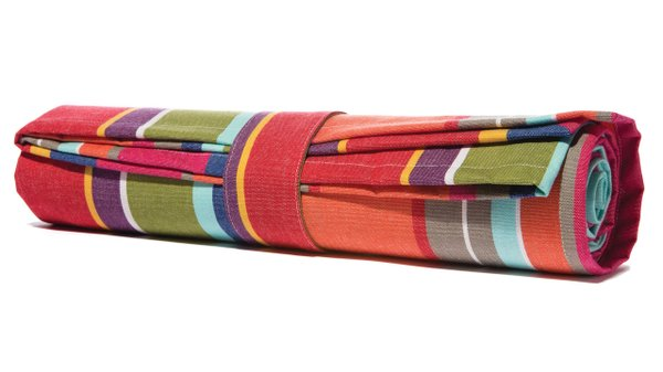 French stripe picnic blanket