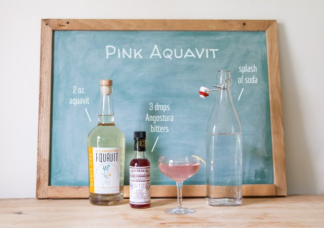 Summer Drinks Pink Aquavit
