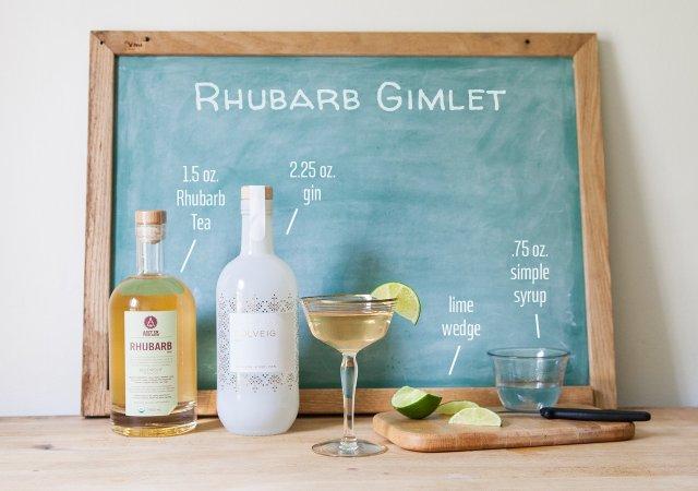 Summer Drinks Rhubarb Gimlet