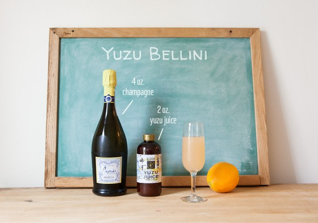 Summer Drinks Yuzu Bellini