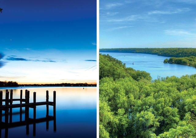 Lake Minnetonka and St Croix River
