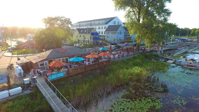 Aerial View of Tally's in White Bear Lake