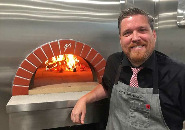Pryes Brewing Taproom's Red Wagon Pizza Oven