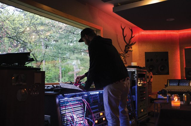 Justin Vernon at his April Base studio outside of Eau Claire