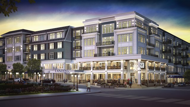 Rendering of the Hotel Landing in Wayzata