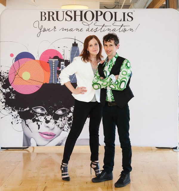 Anne White and Mark Sejvar at Brushopolis HQ in Minneapolis