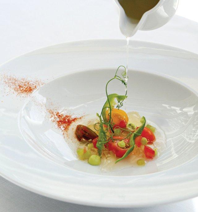 L'Etoile's Cherry Tomatoes Gazpacho Water