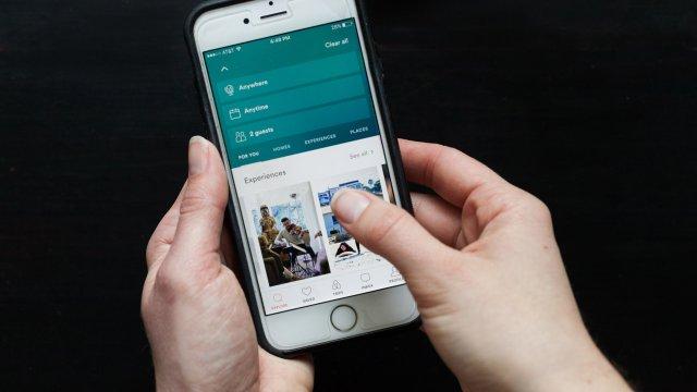 phone showing Air BNB app