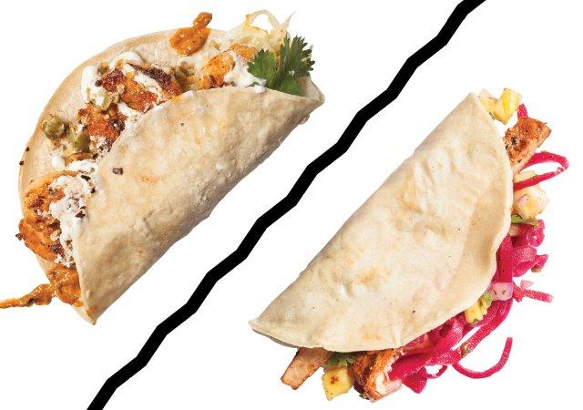 Tacos from Baja Haus and Pajarito