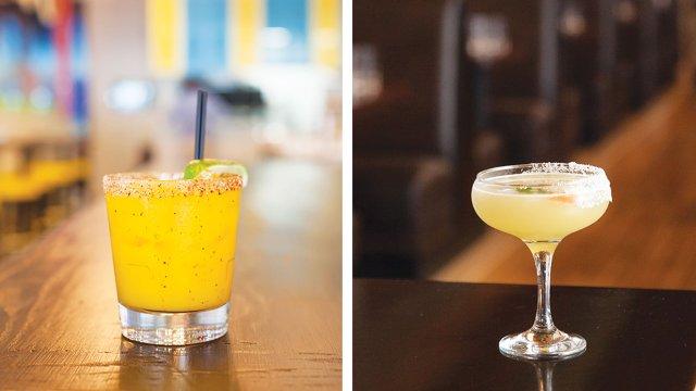 Margaritas from Baja Haus and Pajarito