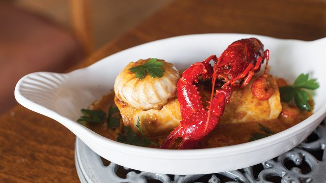 pike quenelle with crayfish sauce