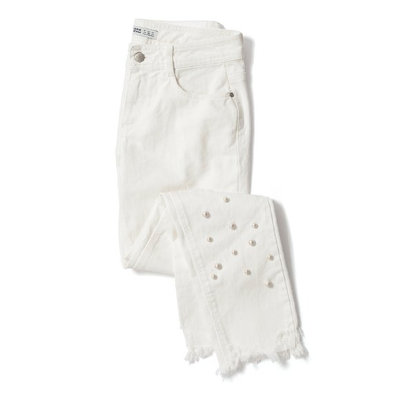 Denim jeans with Pearls from Zara