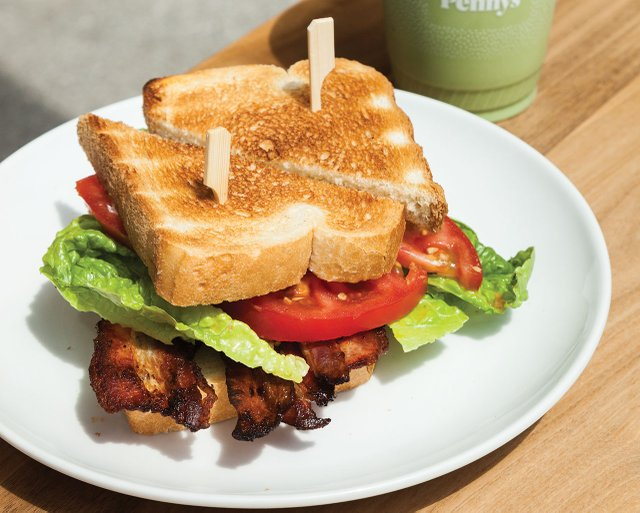 BLT sandwich from Penny's Coffee
