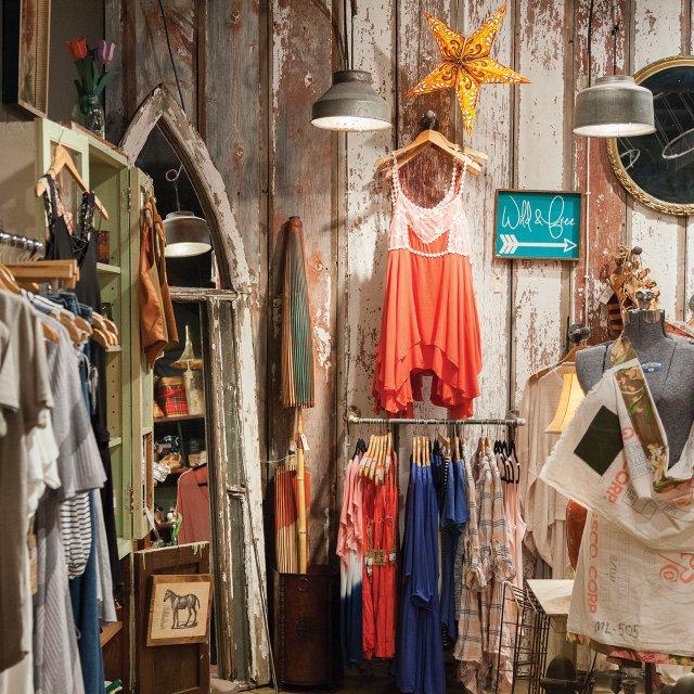 Clothing display at The Vintage Gypsy