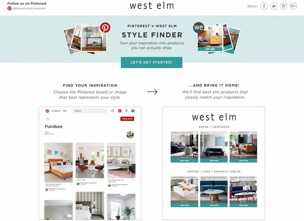 West elm style furniture Midcentury Modern West Elms Pinterest Style Finder Brings Your Style Home Southern Revivals West Elms Pinterest Style Finder Brings Your Style Home Mplsst