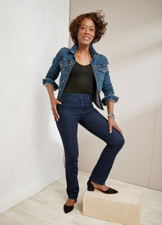 Armanda Barner of St. Paul poised in her NYDJ jeans