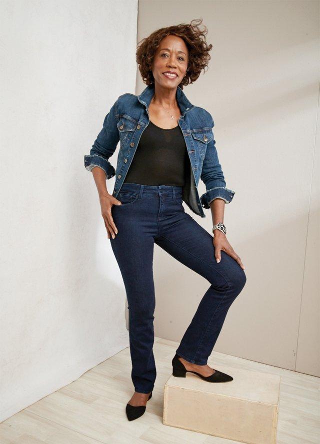 Armanda Barner of St. Paul poised in her NYDJ jeans
