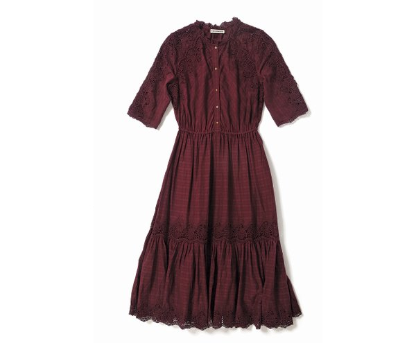 Bordeaux dress from Equation