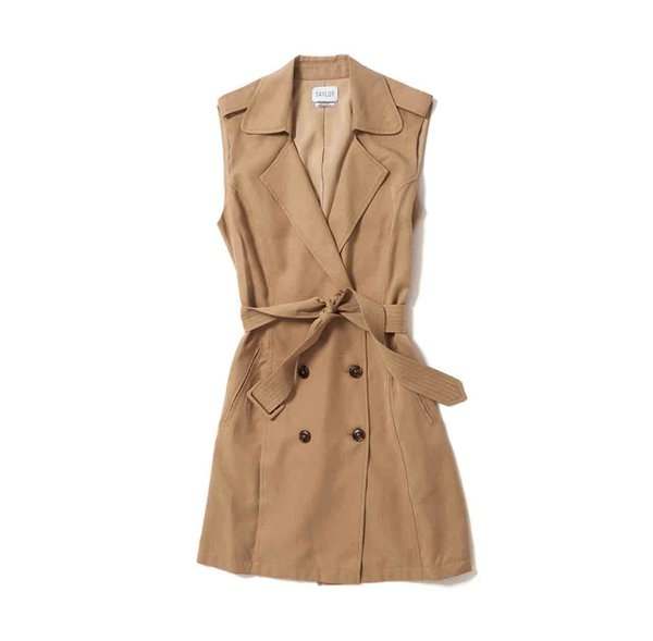 Sleeveless trench from Bluebird Boutique
