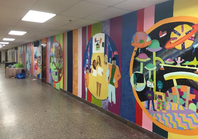 Murals at Justice Page School