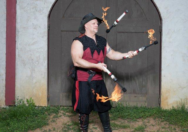 Danger Committee Performer at the Renaissance Festival