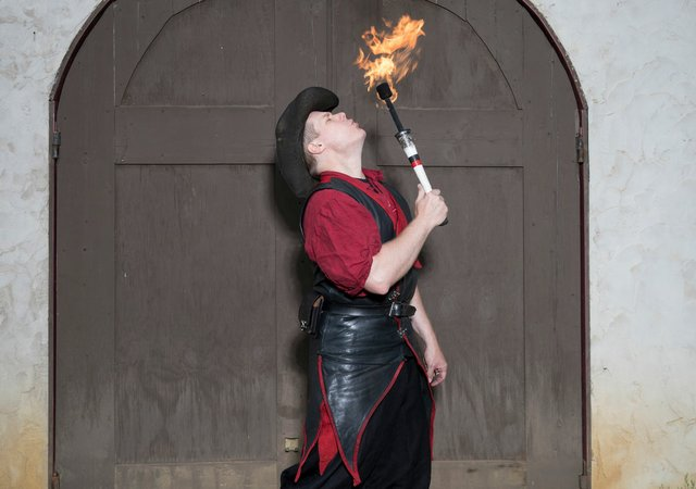 "Performer ""Reynaldo"" with The Danger Committee at the Renaissance Festival"