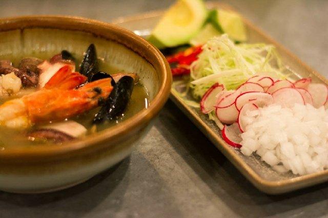 Octo Fishbar Seafood Pozole Verde
