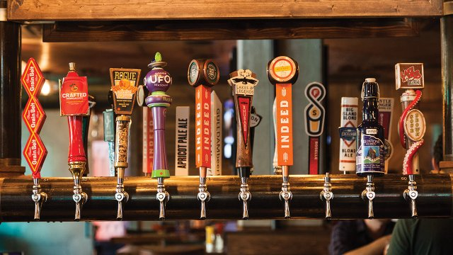 Local and national beers at HopCat